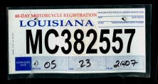 Drew S U S Temporary Motorcycle License Plate Checklist